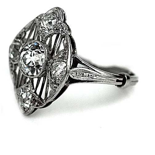 .60 Carat Art Deco Platinum Diamond Ring