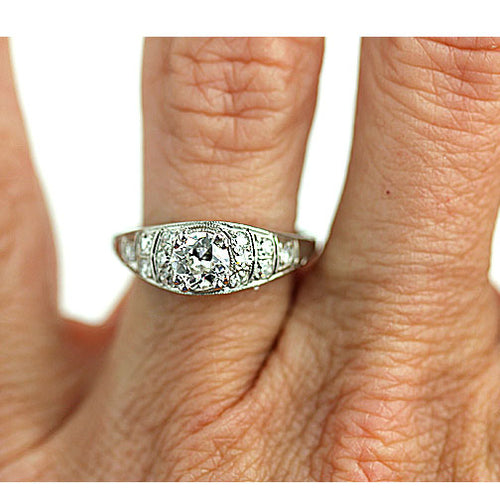 .60 Carat Art Deco Diamond Engagement Ring