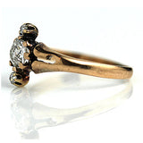 .40 Carat Victorian Rose Gold Diamond Ring