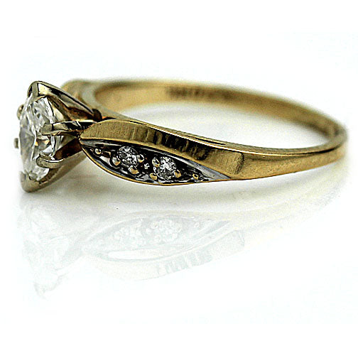 Vintage Marquis Diamond Engagement Ring