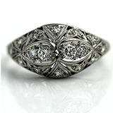 Art Deco Diamond Ring Platinum