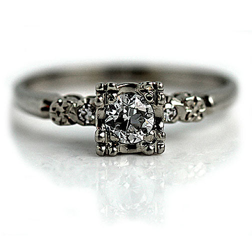 .35 Carat Vintage Illusion Diamond Engagement Ring