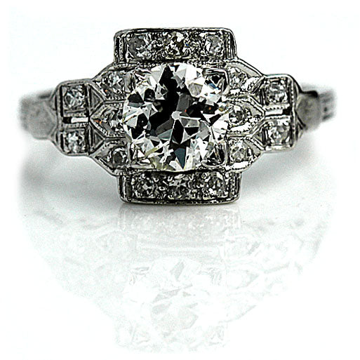 Art Deco 1.10 Carat Diamond Engagement Ring