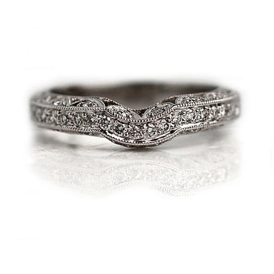 Estate Contoured Diamond Wedding Band