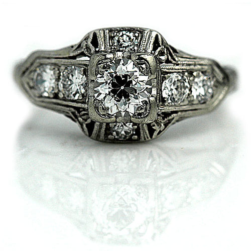 Art Deco .35 Carat Engagement Ring