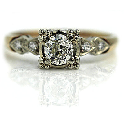 Old European Cut Diamond Engagement Ring with Basket Setting