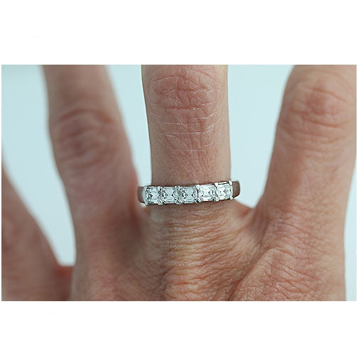 Platinum 5 Criss Cut Diamond Engagement Ring