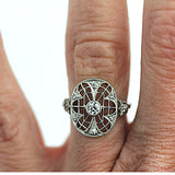 Edwardian Platinum Diamond Dinner Ring