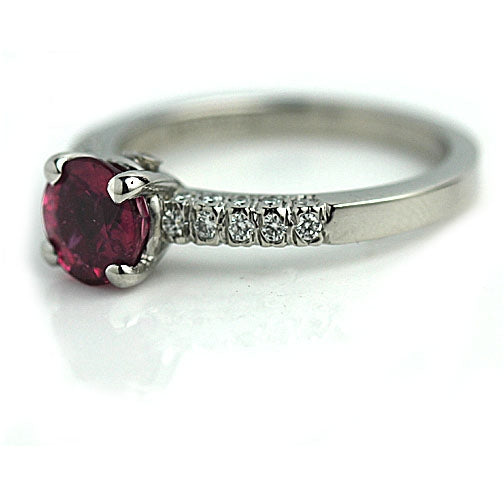 Estate 1.15 Carat Tourmaline Ring in Platinum