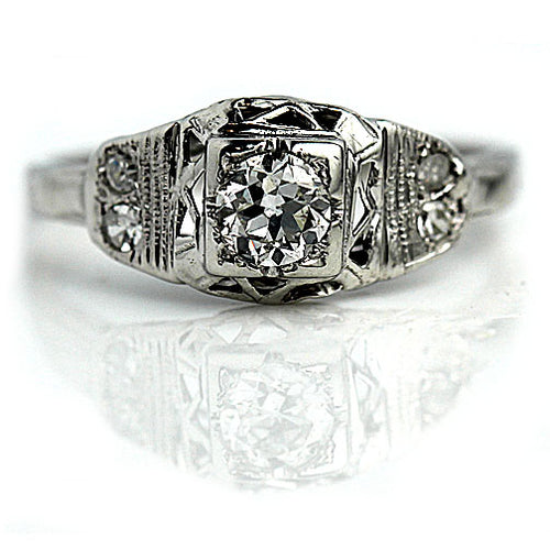Art Deco Engagement Ring Circa 1920's