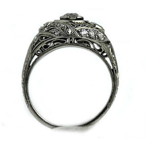 Edwardian Open Faced Diamond Engagement Ring