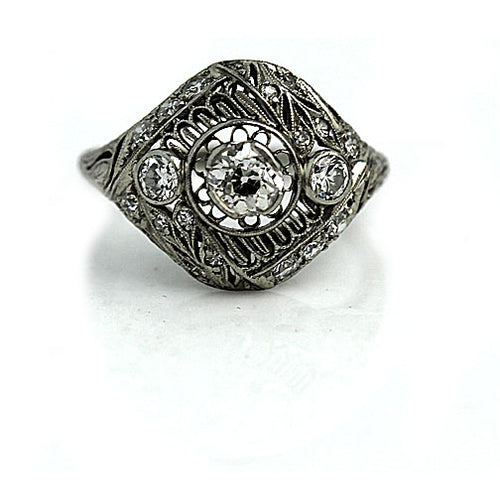 Art Deco Engagement Ring .40 Carat
