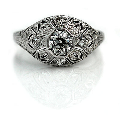 Edwardian Diamond Dome Engagement Ring