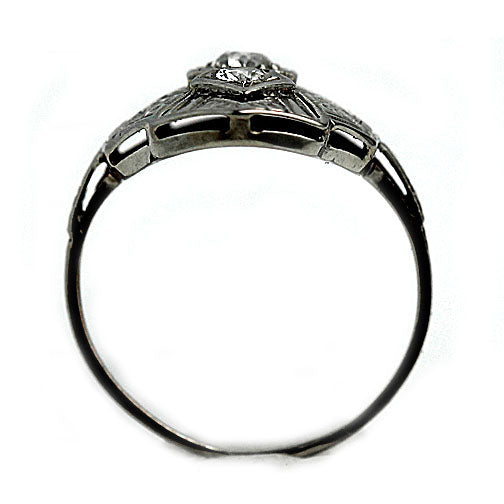 Art Deco Diamond Navette Dinner Ring