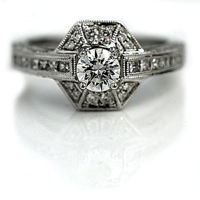 Vintage Estate Halo Engagement Ring