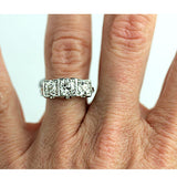 Vintage Three Stone .85 Carat Diamond Ring