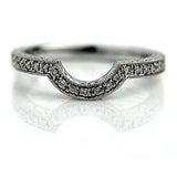 Vintage Style Contoured Engraved Wedding Band