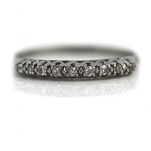 Antique Wedding Band in Platinum