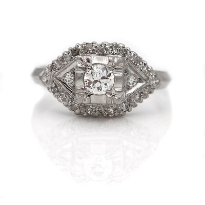 Unique Prong Set Diamond Engagement Ring