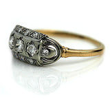 Mid Century Three Stone Diamond Ring