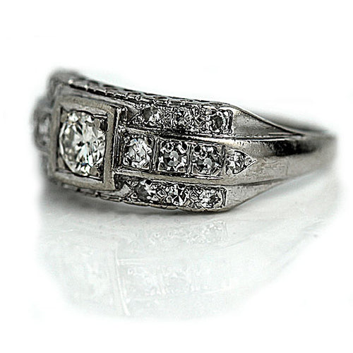 .35 Carat Antique Diamond Dome Ring