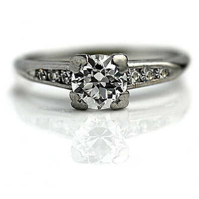 3/4 Carat Old European Cut Diamond Engagement Ring
