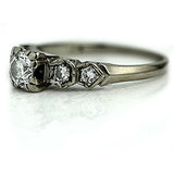 Vintage .50 Carat Diamond Engagement Ring Circa 1940's