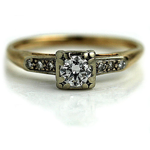 1940's Vintage Diamond Engagement Ring .35 Carat