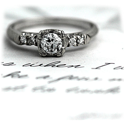 .35 Carat Vintage Diamond Engagement Ring