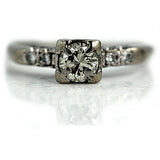 1940's .50 Carat Vintage Diamond Engagement Ring