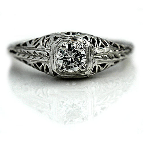 .30 Carat Art Deco Solitaire Diamond Ring