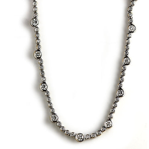 Vintage Diamond Necklace 8.00 Carat