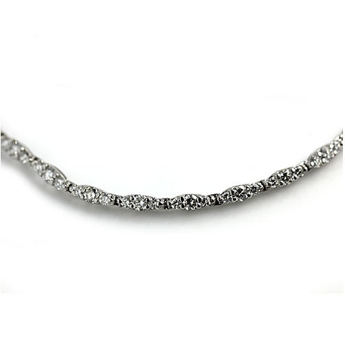 Mid-Century 6.50 Carat 18 kt White Gold Diamond Necklace
