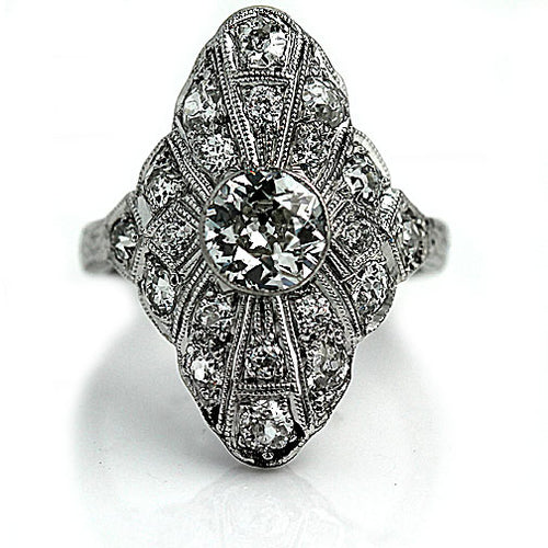 .90 Carat Art Deco Diamond Dinner Ring