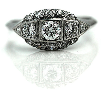 Antique Diamond Dome Engagement Ring