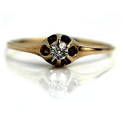 Vintage Six Prong Solitaire Engagement Ring