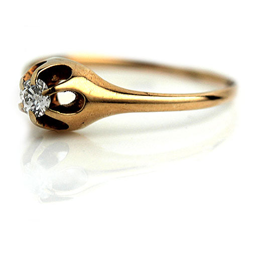 1940's Vintage Rose Gold Diamond Ring