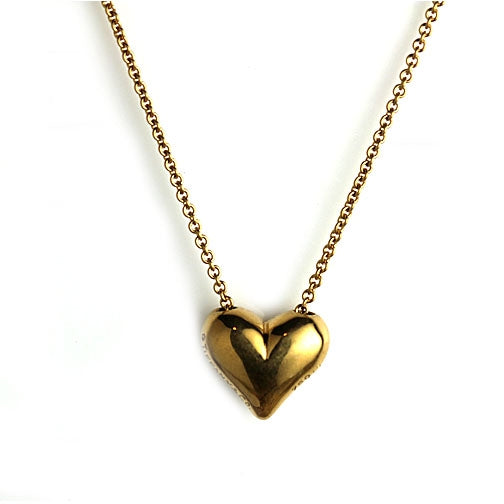 Tiffany and Co.18 Kt Yellow Gold Heart Necklace