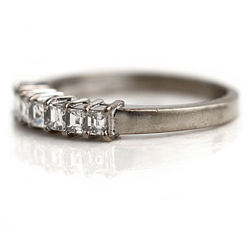 .70 Carat Vintage Square Cut Diamond Wedding Band