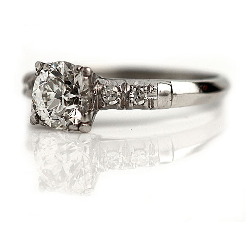Vintage Diamond Engagement Ring .90 Carat