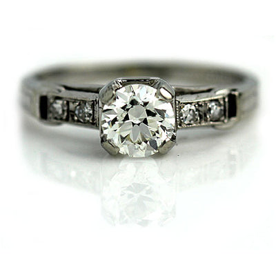 1940s Old European Cut Diamond Engagement Ring