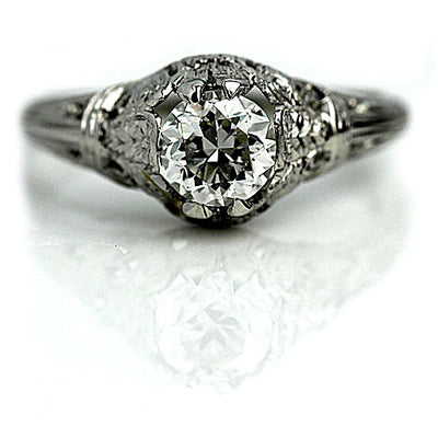 Vintage Filigree Diamond Engagement Ring