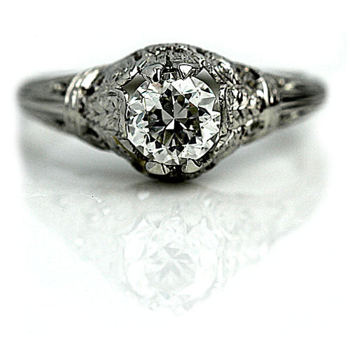 .81 Carat GIA Art Deco Diamond Engagement Ring