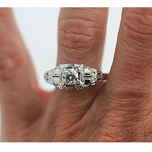 Antique .60 Carat Diamond Engagement Ring