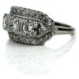 Antique Three Stone Diamond Ring Circa 1940's