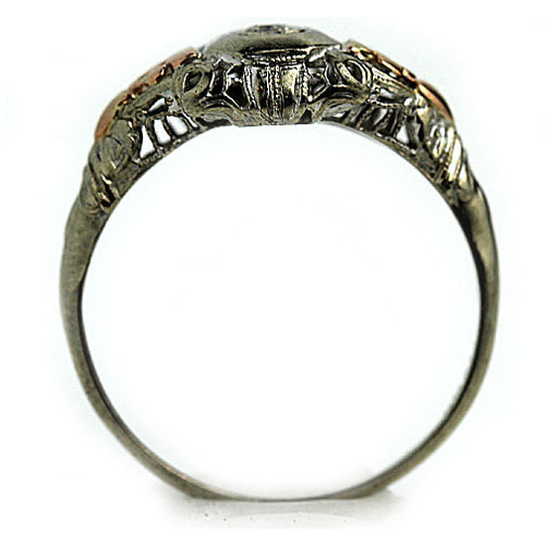 Antique Two Tone Diamond Ring