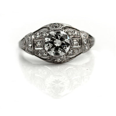 Antique Old European Cut Diamond Engagement Ring - Vintage Diamond Ring