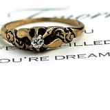 Victorian Engagement Ring in 18 Kt Rose Gold