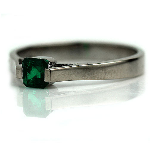 Vintage .35 Carat Emerald Engagement Ring