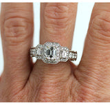 Estate Art Deco Style Diamond Ring .75 Carat